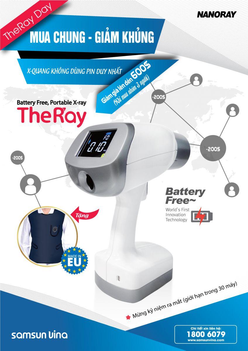 Mua chung giảm khủng máy X-Quang cầm tay không dùng pin The Ray