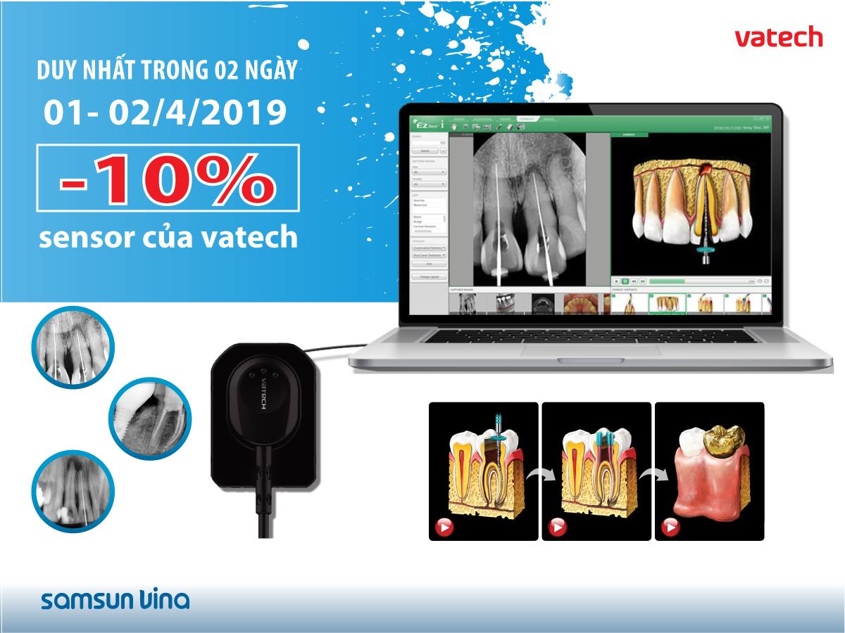 Giảm giá 10% cho tất cả các loại sensor của VATECH duy nhất trong 2 ngày hội nghị 1&2/4/2019